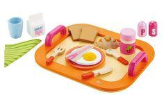 Pomarańczowa taca śniadaniowa, 82317-Sevi, zabawy w kuchnie dla dzieci, zabawki drewniane | ZieloneZabawki.pl