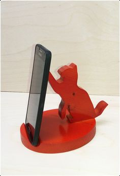 Creative Rabbit Shape Wooden Phone Holder Cute and Convenient Desktop Phone Holder