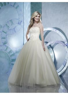 Fabulous Stunning Strapless Tulle Prom Dress With Exquisite Handwork