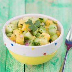 Cucumber Pineapple Salad! Another simple recipe using fresh ingredients found right here in Potrero!