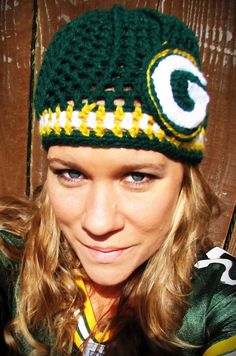 Green Bay Packers Crochet Cap
