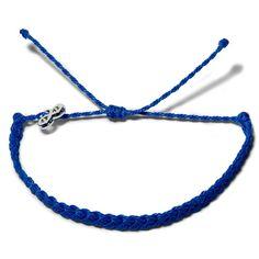 Blue Lightning Geflochten  - Weltfreund Armbänder