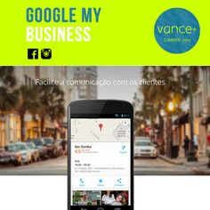 O Google Meu Negócio permite que você se conecte diretamente com os seus clientes, que podem estar procurando você na Pesquisa do Google, no Google Maps ou no Google+. Coloca as informações de sua empresa na Pesquisa do Google, no Google Maps e no Google+ para que os clientes encontrem você em qualquer dispositivo.