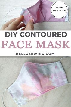 face mask our step by step tutorial and sew up yourself a fitted mask. Its a quick and easy sew. Small Sewing Projects, Sewing Hacks, Sewing Tutorials, Sewing Crafts, Sewing Tips, Fabric Crafts, Sewing Machine Projects, Sewing Basics, Easy Face Masks