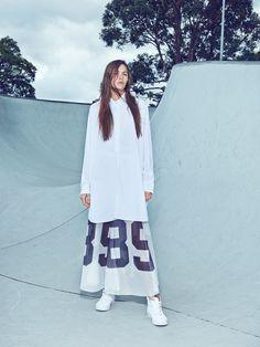 compact cotton shirt :http://bit.ly/1rfEvwe : numbers on mesh skirt :http://bit.ly/1Fp4q7b