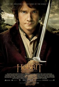 "Young Bilbo Baggins in the new ""The Hobbit: An Unexpected Journey"" poster starring Martin Freeman"