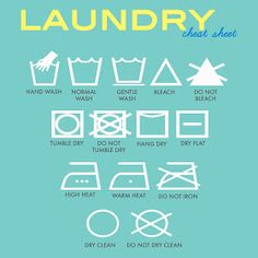 printable laundry symbol cheat sheet.  i've always wondered what they meant.