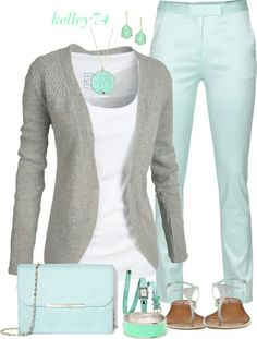 LOVE the mint/silver color combination!