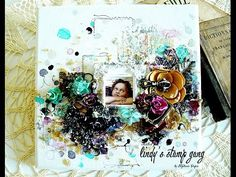 """3D Mixed Media Canvas Tutorial """"MY ANGEL"""" by Stéphanie PAPIN - YouTube"""