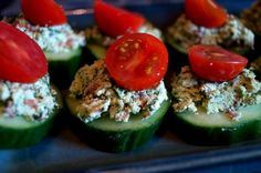 cucumbers with almond pate  recipe>> http://www.rawfoodrecipes.com/recipes/flavoury-almond-pate-on-juicy-cucumbers.html