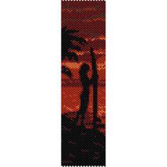 Sunset Surfer Peyote Bead Pattern, Bracelet Cuff, Bookmark, Seed Beading Pattern Miyuki Delica Size 11 Beads - PDF Instant Download by SmartArtsSupply on Etsy