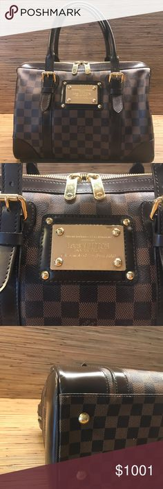 Louis Vuitton Berkeley Satchel in Damier Canvas Authentic LV Berkeley bag. Close to mint condition, with slight wear signs on the sides. Clean red interior lining , no stains. Louis Vuitton Bags Satchels