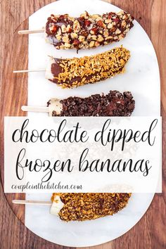 Chocolate Covered Frozen Banana Recipe - Our Best Recipes - Banana Recipes Frozen Banana Recipes, Banana Recipes Easy, Frozen Desserts, Chocolate Covered Bananas Frozen, Semi Sweet Chocolate Chips, Chocolate Dipped, Chocolate Diy, Dairy Free Recipes, Mug