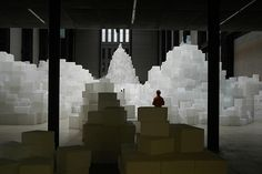 Embankment at the Tate (via Andrew Eland) Tate London, Rachel Whiteread, Cardboard Art, Recycled Art, Best Cities, Public Art, Event Planning, Modern Art, Portrait Photography