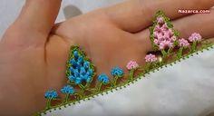 tig-oyasi-kozalak-modeli-yapimi Needlework, Tassels, Hello Kitty, Knitting, Lace, Floral, Flowers, Jewelry, Fashion