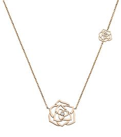 @Who What Wear - Rose Gold Diamond Pendant Necklace ($3100)  Wear this necklace on its own or layered with a chunky choker.