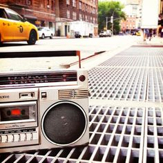 Sometimes you gotta give your shoulder a rest and put that #boombox down #nyc #ARAG90