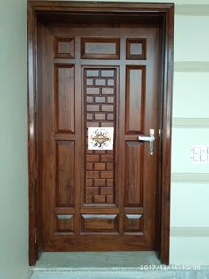 Fresh Front Door Design In Teak Wood