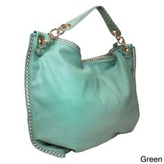 Lithyc 'Katrina' Shoulder Hobo with Studded Trim | Overstock™ Shopping - Great Deals on Hobo Bags