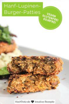Die Hanf-Lupinen-Burger-Patties sind super-lecker, ganz ohne Soja und sie sind, wenn man Lupinen verträgt, auch sehr bekömmlich. Lupine und Hanf sind wahre Suerfoods. Lupine enthalten relativ viele Proteine, viele Nährstoffe und auch Aminossäuren. Mit diesem einfachen Rezept sind die Patties in ca. 40 Minuten fertig.