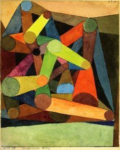 Geöffneter Berg - Paul Klee - The Athenaeum  Love the color play.