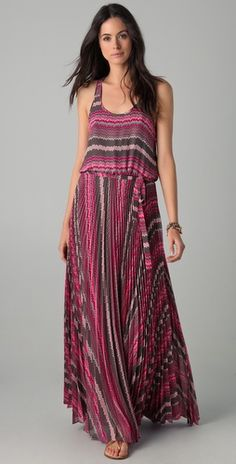 Parker    Long Pleated Dress  Style #:PARKR40235