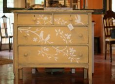 Birds & Branches Painted Dresser - Furniture