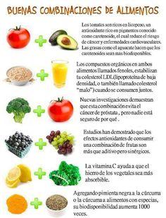 Buenas combinaciones de alimentos.