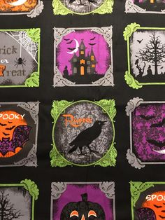 Assorted Halloween Fabric 5 yards of fabric Halloween Quilt Halloween Quilt Fabric, Halloween Runner, Coordinating Colors, Black Fabric, One Pic, Yards, Decorative Pillows, Etsy, Decorative Throw Pillows