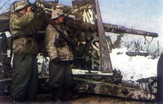 German World War 2 Colour 88mm FLAK Used In Ground Warfare On Eastern Front Russia 1942