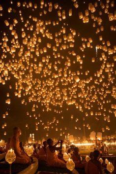 Lantern festival Chiangmai Thailand