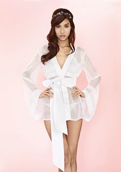 Chemise de chasse this sheer chiffon robe fits like your boyfriend s