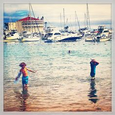 Avalon, California Santa Catalina Island beach boys water babies Casino