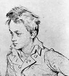 I love this rather rakish hair on a young boy...Ingres drawing from 1818.