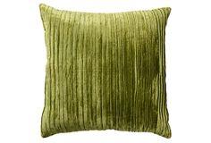 Venetian 22x22 Velvet Pillow, Grass on OneKingsLane.com