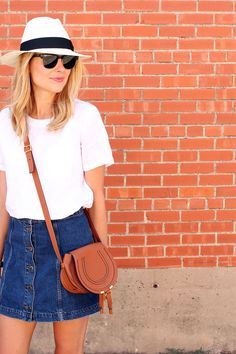 fashion-jackson-madewell-panama-hat-topshop-denim-skirt-white-shirt-chloe-tan-marcie-bag