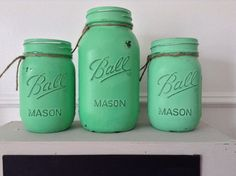 A personal favorite from my Etsy shop https://www.etsy.com/listing/219768774/painted-mason-jars-painted-in-a-custom