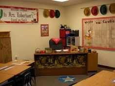 This is my desk area from my western classroom a few years back.