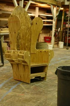 Beauty and the Beast -2- by tonycrawford  Beast's chair for BEAUTY AND THE BEAST*I was in charge of the construction of the Beast's massive wing-back chair. This was just before it got upholstered by the props master.McLeod Summer Playhous...