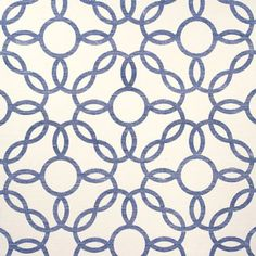 Phillip Jeffries Rings Navy Wallpaper