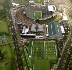 Autzen Stadium and sports comples