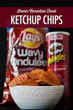 Iconic Canadian Food: Our Mysterious Love for Ketchup Chips | Food Bloggers of Canada The history of one of Canada's favourite snacks foods, the ketchup potato chips. It's an iconic Canadian food.  #canadianfood #ketchupchips #foodbloggersofcanada