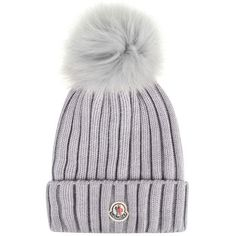 c9383a37acf7f Moncler Pom Pom Hat ( 240) ❤ liked on Polyvore featuring accessories