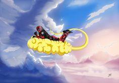 #Deadpool #Fan #Art. (DeadPool The Nimbus Cloud Thief!) By: Brian Fisher. ÅWESOMENESS!!!™ ÅÅÅ+