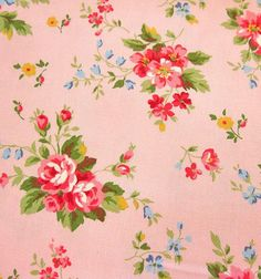 Japanese Cotton Fabric - Roses on Pink - Half Yard- Japanese Cotton Fabric – Roses on Pink – Half Yard pretty vintage floral fabric More - Vintage Floral Fabric, Vintage Fabrics, Vintage Flowers, Vintage Prints, Vintage Paper, Rose Wallpaper, Print Wallpaper, Fabric Wallpaper, Wallpaper Ideas