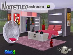 Moonstruck bedroom at Jomsims Creations via Sims 4 Updates