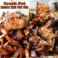 Crock Pot Country-Style Pork Ribs are slow cooked, tender and meaty.