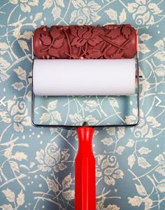 Quaint Decor Patterned Paint Rollers available to purchase individually @ Quaint Dundalk. Wholesale accounts welcome Patterned Paint Rollers, Rolling Pin, Decoration, Home Renovation, Painting, Facebook, Rose, Sleeve, Design