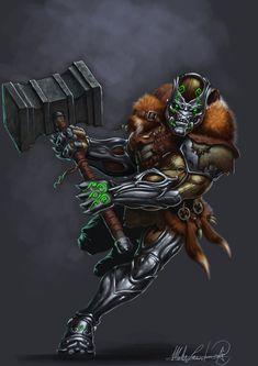 Tink the Warforge Barbarian by MatesLaurentiu.deviantart.com on @deviantART