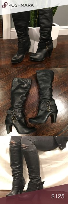 Black Bronx boots Black Bronx boots style is Zari. size 37 fits a size 7 foot. Super comfy boots you could run around town in these all day!! The shoes are made in Brazil and they are amazing!!! Bronx Shoes Combat & Moto Boots